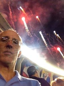 Halftime fireworks.